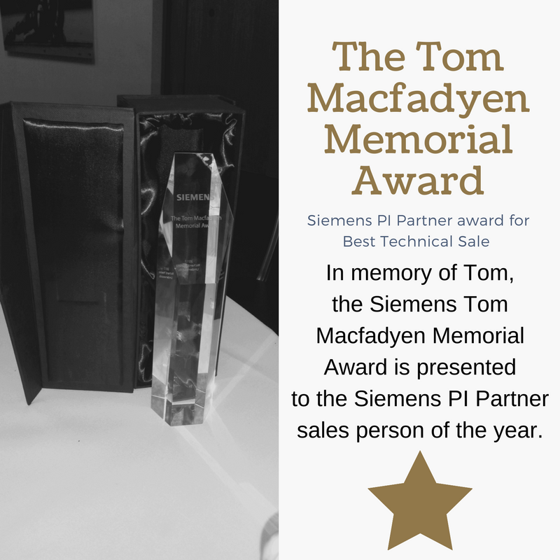 The Siemens Tom Macfadyen Awaard